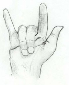 easy sketches of hands - Google Search