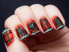 Chalkboard Nails: Disney's Hercules Nail Art