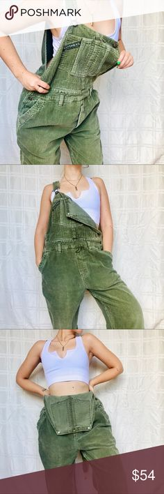 2a11bc732b Union bay 90s Y2K corduroy denim overalls pants One of a kind Vintage 90s  Union Bay