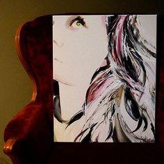 Unknown Beauty #withGod#art#acrylic #acrylicpainting #yeg #yegart #eyes #longhairdontcare #longhair #instagram #white #blackandwhite #purple #homedecor #decor #design #modern#abstractart #abstractpainting #modernart #home #hippie #simple #eyes #eyestellastory