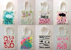Pin on Hair & Makeup ideas Fabric Tote Bags, Diy Tote Bag, Diy Crafts To Do, Crafts For Kids, Library Bag, Teacher Bags, Painted Bags, Diy Presents, Sewing Stitches