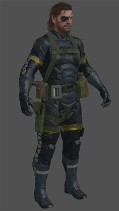 Metal Gear Solid 5: Ground Zeroes -- Big Boss Cosplay Costume Version 03
