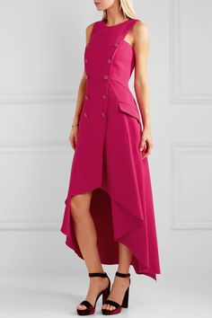 Fuchsia stretch-cady  Zip fastening along back 96% rayon, 4% elastane; lining: 96% silk, 4% elastane Dry clean Designer color: Cardinale Made in Italy