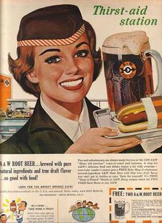 A large mug of A&W Root Beer and a foot-long loaded with everything. My Mother would take us there every Saturday while doing the grocery shopping.