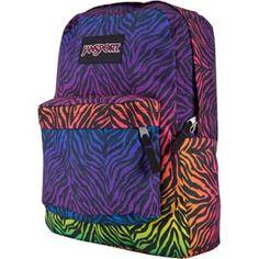 Designer Clothes, Shoes & Bags for Women Mochila Jansport, Jansport Superbreak Backpack, Zebra Print, Stripe Print, Cool School Bags, Colorful Backpacks, Striped Backpack, Boy Fashion, Womens Fashion