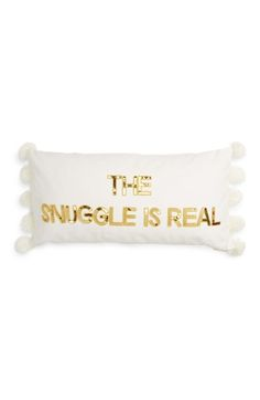 Bow & Drape Snuggle is Real Acccent Pillow available at #Nordstrom