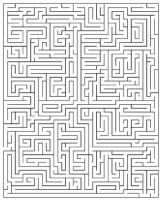 Printable Maze Puzzles for Adults Maze Puzzles, Word Puzzles, Printable Puzzles, Printables, Hard Mazes, Brain Games For Adults, Sudoku, Maze Worksheet, Maze Game