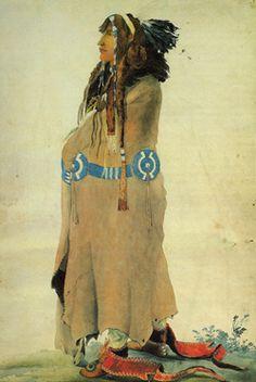 Sih-Chida (the yellow feather) Mandan - Karl Bodmer watercolor Native American Design, Native American Artists, Native American Fashion, Native Indian, Native Art, Albino African, Indian Artist, Indian Paintings, Western Art