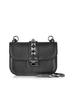 Valentino Garavani Noir Small Chain Shoulder Bag