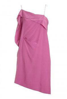 vestido rosa assimétrico