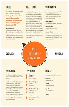 36 Beautiful Resume Ideas That Work | Resumes | Pinterest | Basic ...