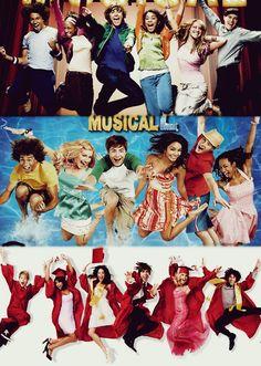 The famous high school musical jump Disney Channel Original, Disney Channel Shows, Original Movie, Disney Memes, Disney Films, Disney Pixar, Old Disney, Disney Fun, High School Musical Cast