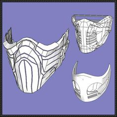 3 Mortal Kombat Mask Papercrafts Free Templates Download - http://www.papercraftsquare.com/3-mortal-kombat-mask-papercrafts-free-templates-download.html