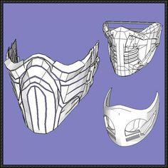 3 Mortal Kombat Mask Papercrafts Free Templates Download - http://www.papercraftsquare.com/3-mortal-kombat-mask-papercrafts-free-templates-download.html