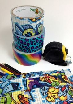 Duck tape pouch - it snaps closed!