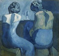 Picasso, blue period.