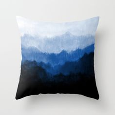 Buy Mists - Blue by Prelude Posters as a high quality Throw Pillow. Worldwide shipping available at Society6.com. Just one of millions of products available.