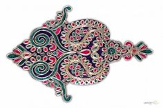 rajasthani patch work with beads