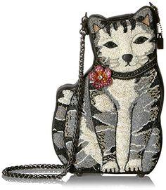 Mary Frances 9 Lives Beaded Cat Crossbody Handbag Purse, Multi