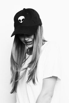 Brandy ♥ Melville | Katherine Alien Patch Baseball Cap - Hats & Beanies - Accessories