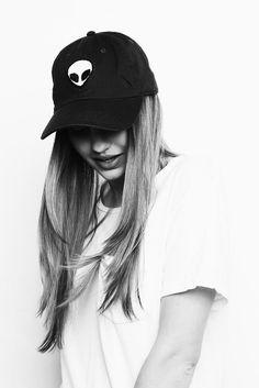 Brandy ♥ Melville | Katherine Alien Patch Baseball Cap - Hats & Beanies - Accessories