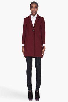 Maison Kitsune Wool Charlotte Coat, $1,200; ssense.com   - ELLE.com