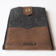 Leather and Wool Mini iPad Case by Oliday