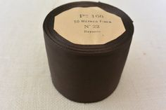 Espresso Vintage Grosgrain Ribbon 3 1/2 wide 10 by archivetrim, $30.00