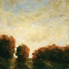 "First Light, Kathleen Burke  2009, encaustic on panel, 12""x12"""