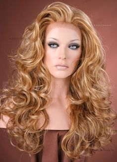 SEXY DOLL// Wave Curls// Thick// Honey Ginger Lace Front Wig