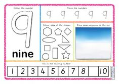 Number Activity Mats - 1 to 20.
