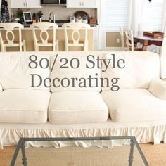 """""""How to Treat Decorating ADHD without Breaking the Bank""""  80% neutral, classic basics + 20% colorful trendy accessories= 80/20 Style www.starfishcottageblog.com"""