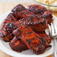The key here, is in step #1 - brining.  Makes amazing pork - even when pan fried!  Barbecued Country-Style Ribs Recipe - Cook's Country