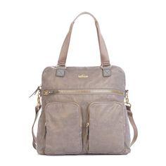 New Camryn Laptop Handbag - Stone Metallic   Kipling