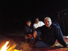 Camping in the desert northwest of Riyadh.