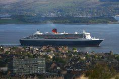 Queen Mary 2 off Greenock 15 May 2013. Picture by George Munro.  via Greenock Telegraph