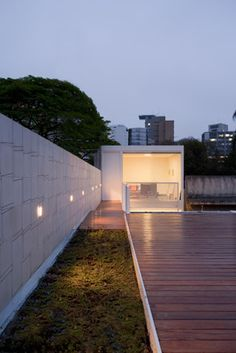 The roof top terrace above the Sao Paolo Residence
