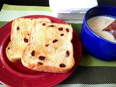 休日の朝食♬このためにHBを買ったようなものです - 48件のもぐもぐ - コーンスープとレーズントースト by Tsu10mu