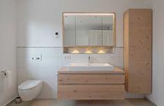 "Bathroom furniture ""light oak"" – Carpenter Baier - All About Bamboo Furniture, Bathroom Furniture, Bathroom Interior, Furniture Design, Bamboo Bathroom, Coastal Bathrooms, Family Bathroom, Bathroom Design Small, Light Oak"