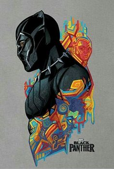 This artwork is so cool. I went to see Black Panther last week and really enjoyed it. The vibranium tech can seem a little space-age and far-fetched at times, but it doesn't spoil anything for me. Favourite character was Shuri played by Letitia Wright.