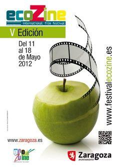 Cartel Festival Ecozine año 2012 5ª edicion. Festival Internacional de Cine y Medio Ambiente Ciudad de Zaragoza