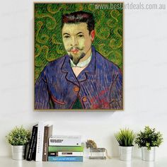 Doctor Felix Rey Vincent Van Gogh Impressionist Reproduction Figure Painting Canvas Print for Wall Ornament Stretched Canvas Prints, Canvas Art Prints, Painting Prints, Painting Canvas, Van Gogh Prints, Online Art Store, Wall Ornaments, Van Gogh Paintings, Landscape Prints