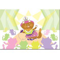 'Pretty Kitty Princess Pop Star'Canvas Art