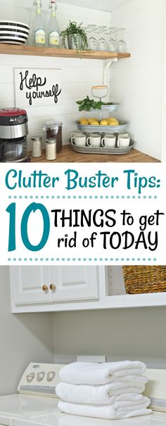 This list of 10 Things to get rid of today will get you started on a clutter free home. The perfect list to put you on the right track today.