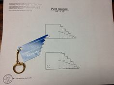 DIY Picot Gauge Template. Free PDF file.