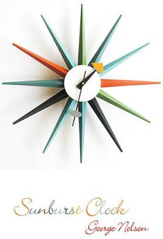 George Nelson: Sunburst Clock Multi Color by Vitra | Available from NOVA68.com Modern Design