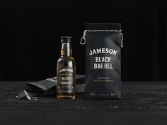 Jameson Whiskey – Black Barrel 50ml Charcoal Bag on Packaging of the World - Creative Package Design Gallery