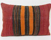 16x24 kilim pillow lumbar turkish pillow cover throw pillow kilim rug pillow shabby chic home decor outdoor throw pillow orange pillow 28616