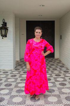 vintage hot pink dress / via dressing the team / vintage