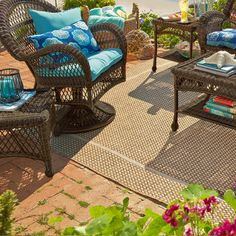 Dobby Flatweave Rugs - Natural...love this rug for my balcony ;-)